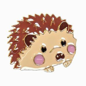 Animal Lapel Pin: Hedgehog
